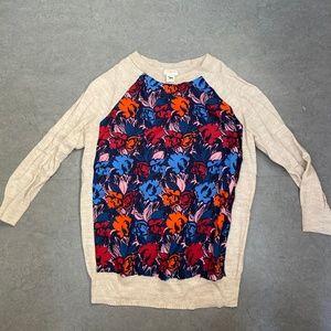 J. Crew Factory floral sweater shirt